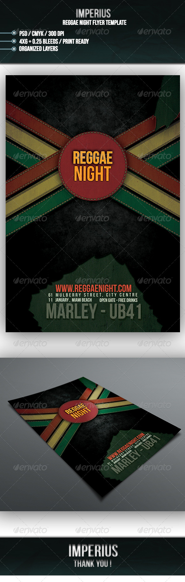 GraphicRiver Reggae Night Flyer 7147724