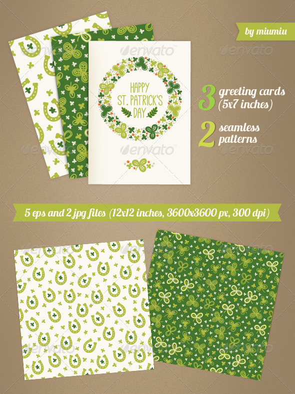 GraphicRiver Greeting Cards for St Patrick s Day 7148550
