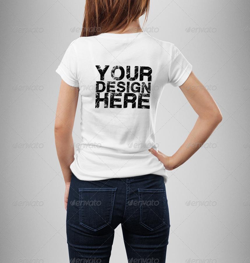 Female t shirt mock up by eugene design graphicriver for T shirt mock ups