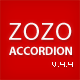 Zozo Accordion - Responsive and Touch-Friendly