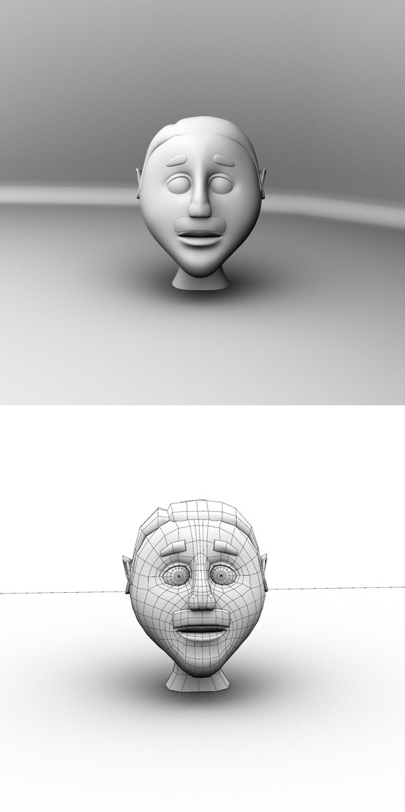 3DOcean Cartoon Head Base Mesh 7149393