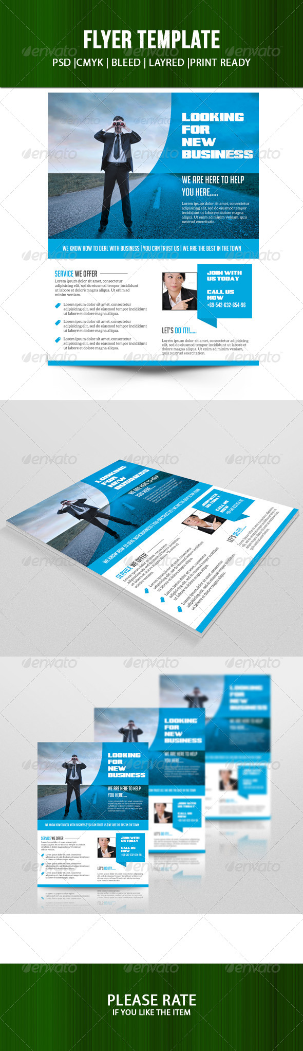 GraphicRiver Business Flyer Template 7149810