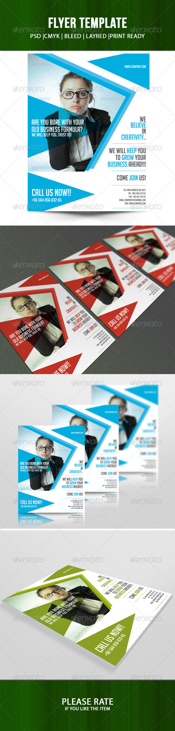 GraphicRiver Business Flyer Template 7149898