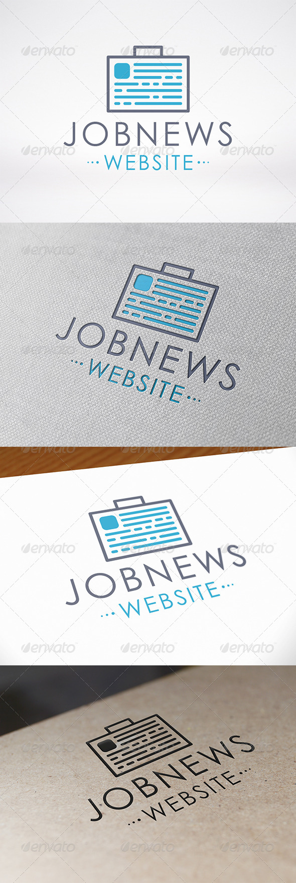 GraphicRiver Job News Logo Template 7149956