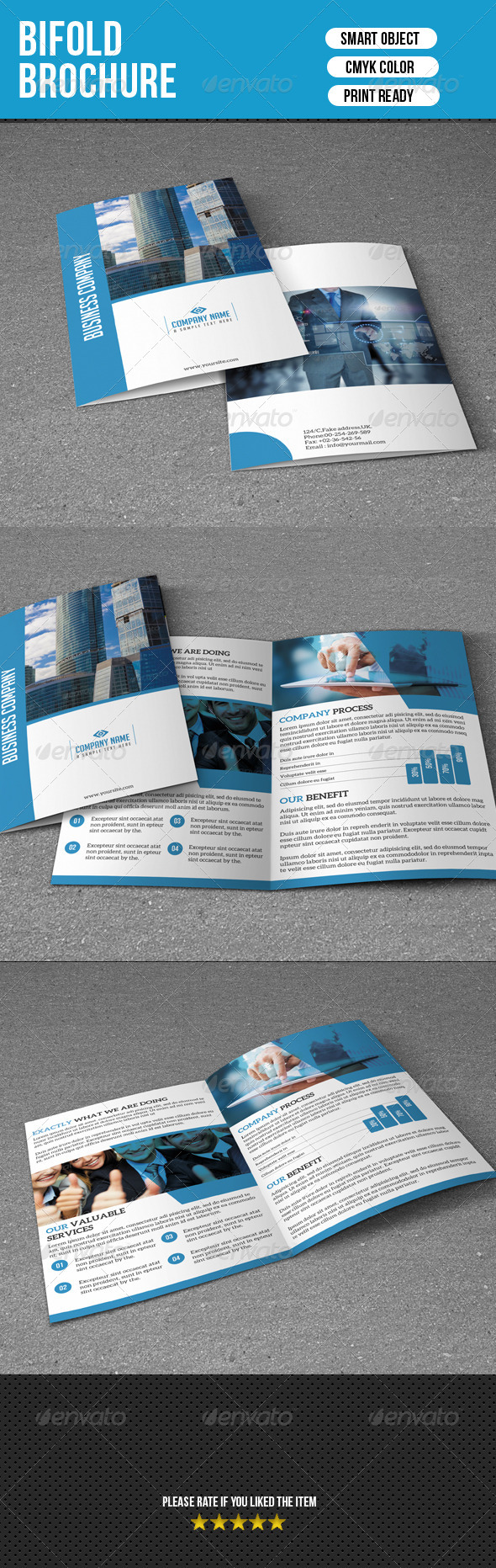 GraphicRiver Bifold Business Brochure 7111985
