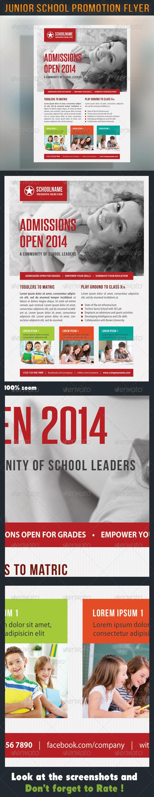 GraphicRiver Junior School Promotion Flyer 06 7150277