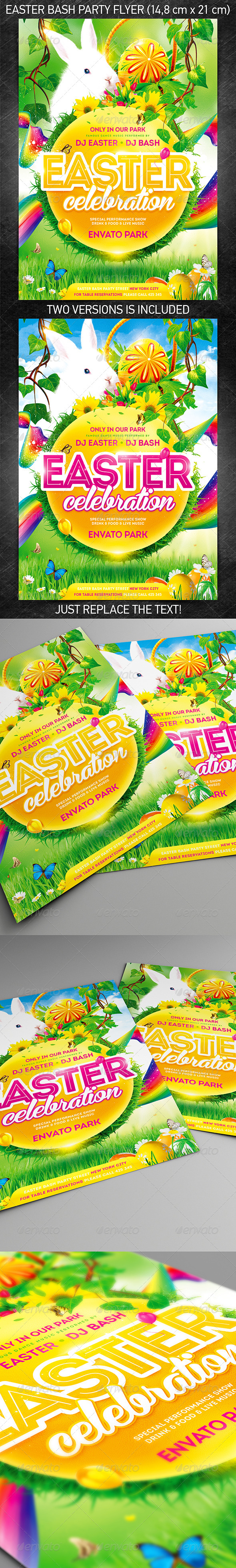 GraphicRiver Easter Bash Party Flyer 7140541