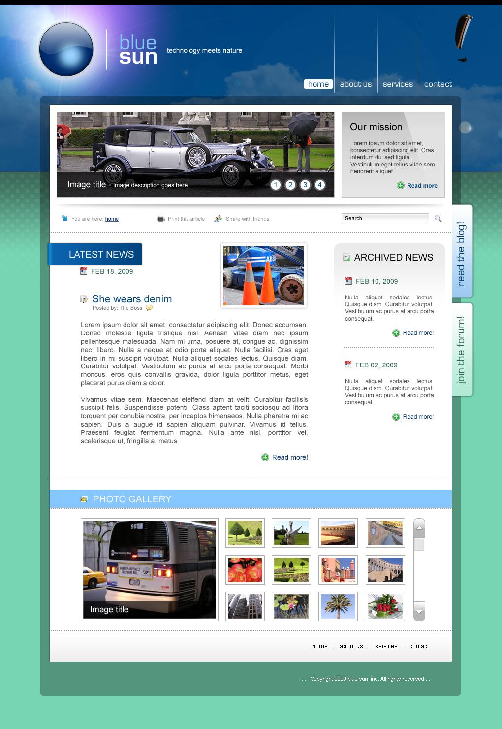 Blue Sun - corporate website