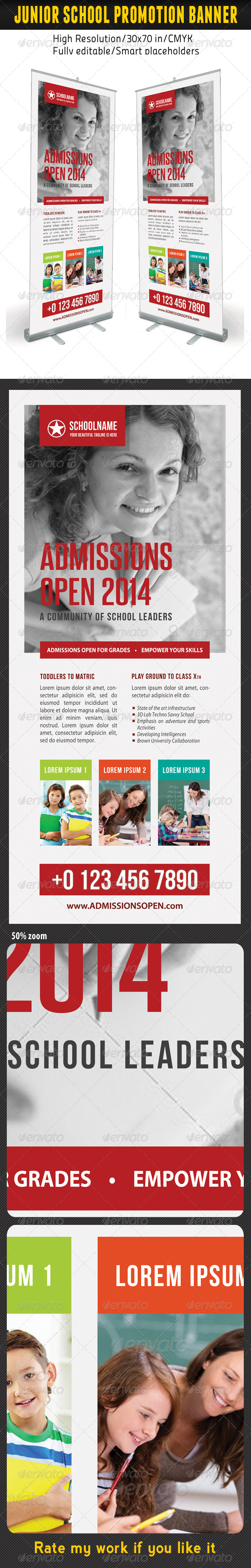 GraphicRiver Junior School Promotion Banner Template 06 7150744