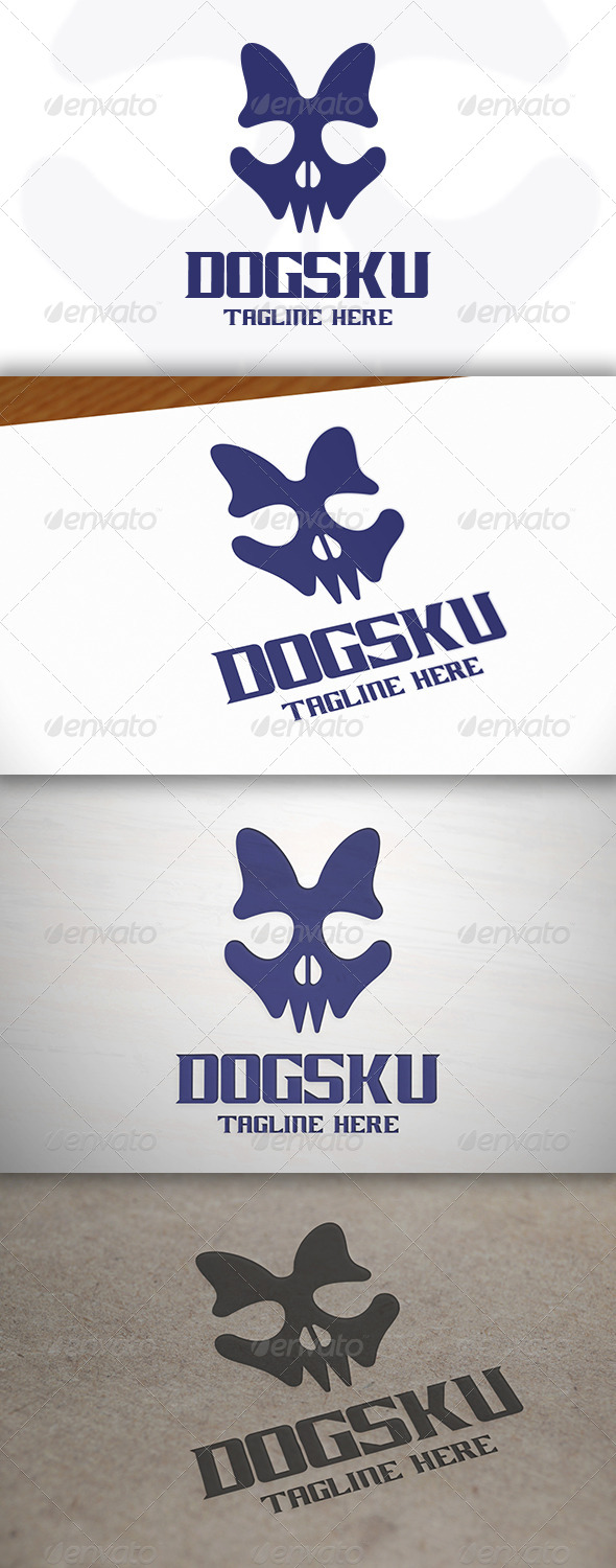 GraphicRiver Dog Skull Logo 7151125
