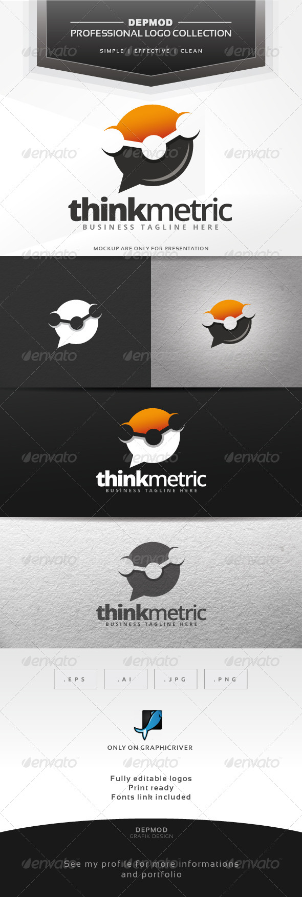 GraphicRiver Think Metric Logo 7151418