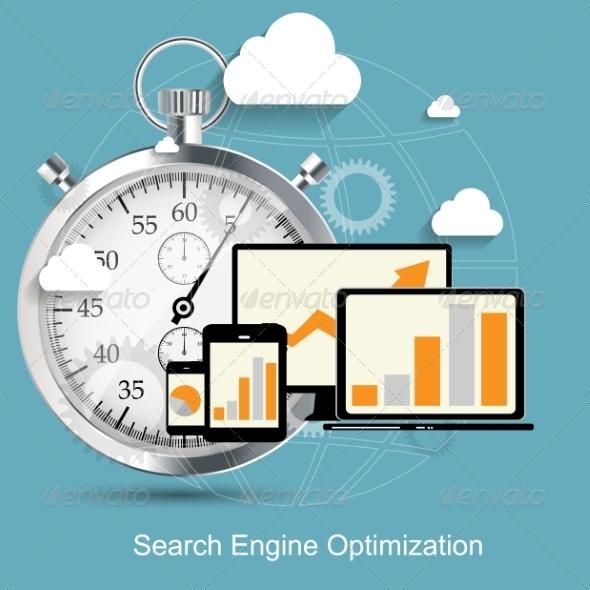 GraphicRiver Search Engine Optimization Flat Icon 7151557