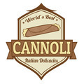 Cannoli stamp or label - PhotoDune Item for Sale