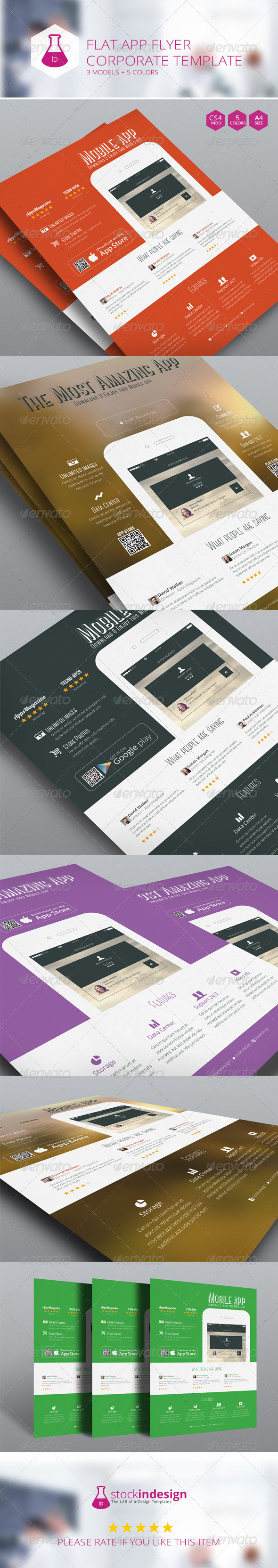 GraphicRiver Flat App Flyer 7151783