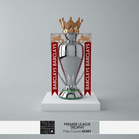 3DOcean The Premier League Trophy 3D Model 7151814