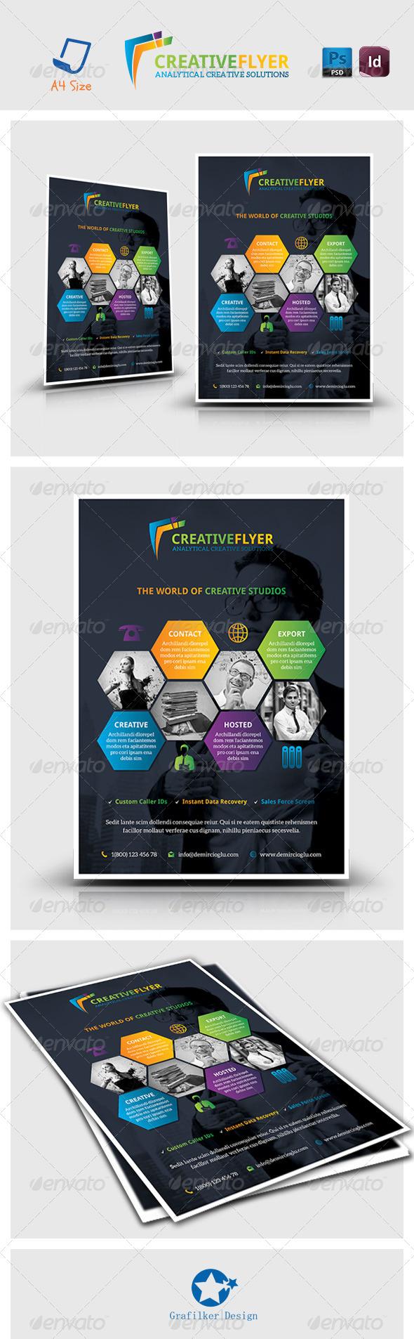 GraphicRiver Creative Studio Flyer Templates 7151821