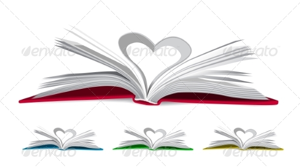 GraphicRiver Heart from Book Pages 7151904
