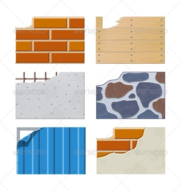 GraphicRiver Wall Set of Building Icons 7152286