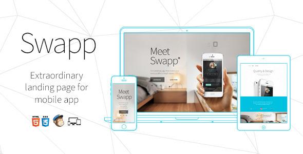 ThemeForest Swapp Responsive Retina HTML5 App Landing Page 7152289