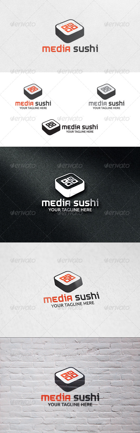 GraphicRiver Media Sushi Logo Template 7152638