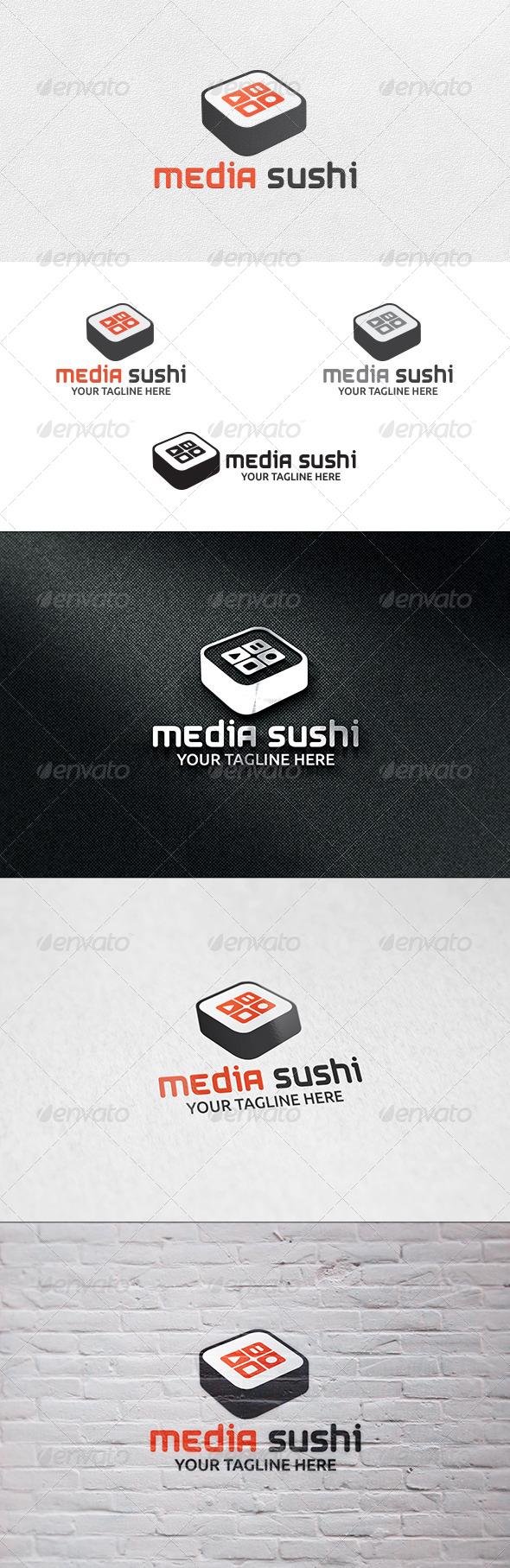GraphicRiver Media Sushi Logo Template 7152638
