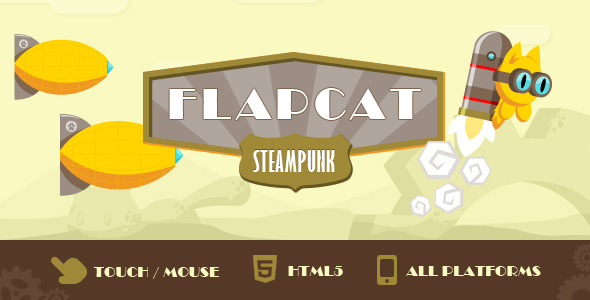 CodeCanyon Game FlapCat Steampunk 7152642