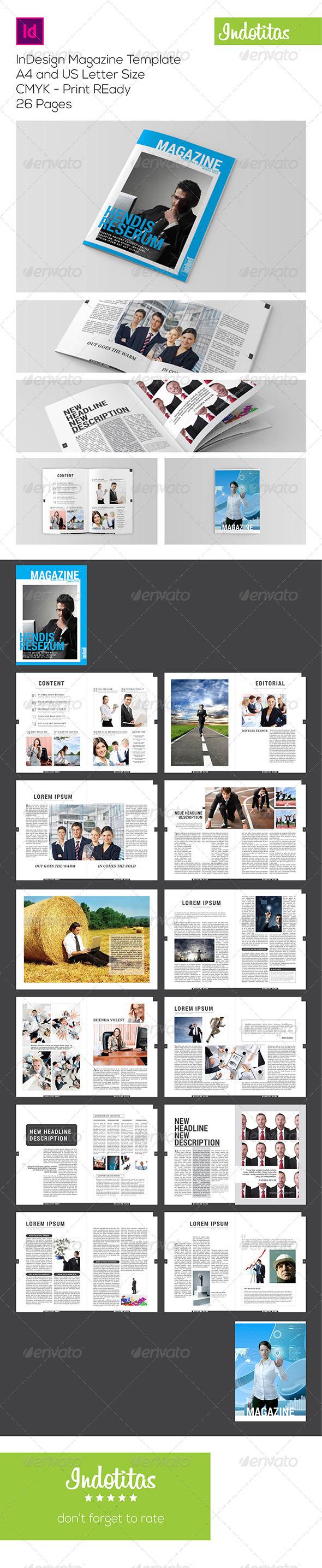 GraphicRiver InDesign Magazine Template 7153186