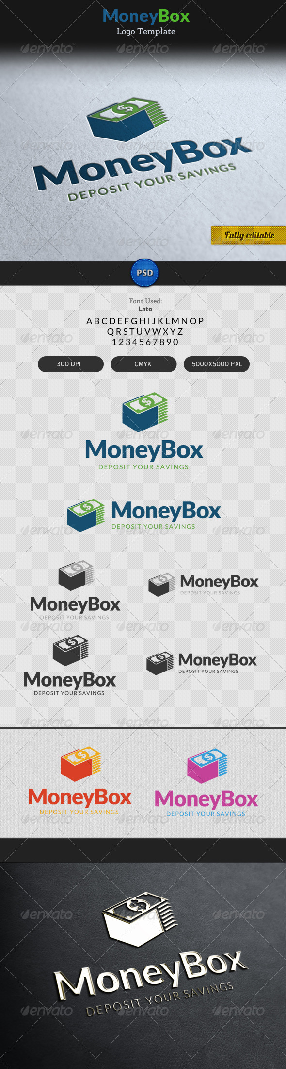 Money Box Currency Dollar Bag Logo