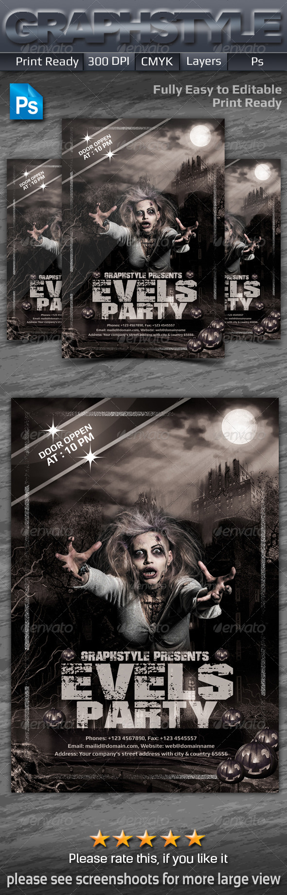 GraphicRiver Evels Party Flyers 7154318