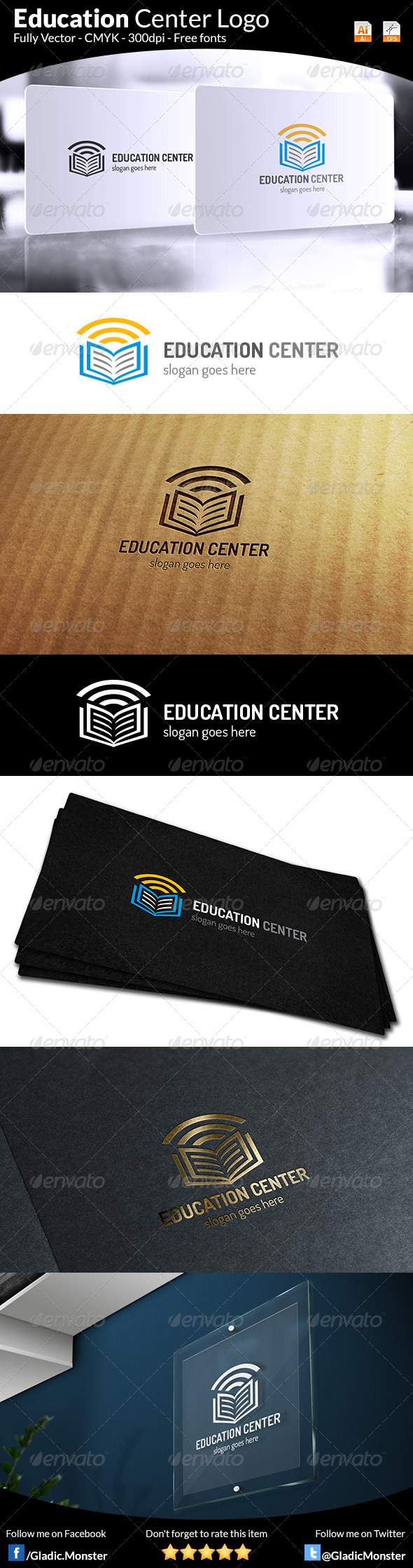 GraphicRiver Education Center Logo 7155258