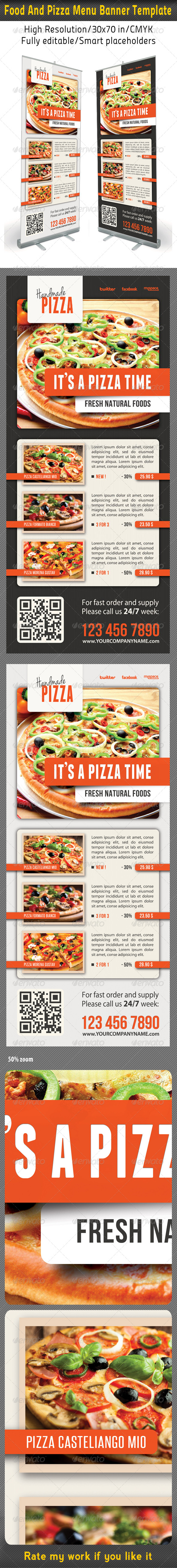 Food And Pizza Menu Banner Template 08