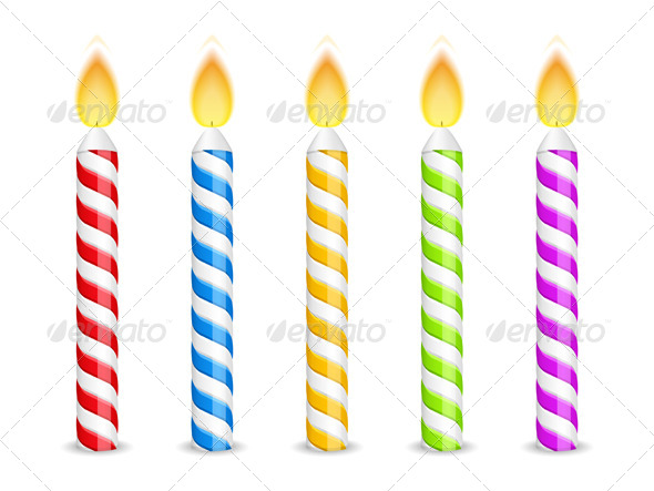 GraphicRiver Birthday Candles 7155493
