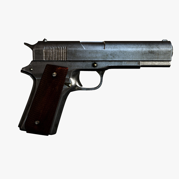 Pistol 9 mm - 3DOcean Item for Sale