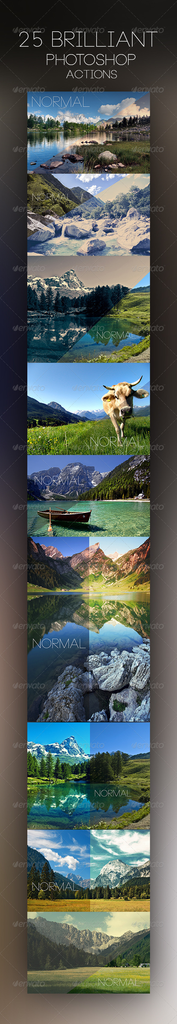 GraphicRiver 25 Brilliant Photoshop Actions 7101764