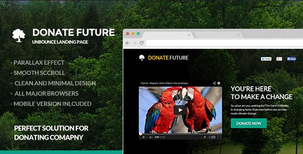 DonateFuture - Donation / Funding Landing Page