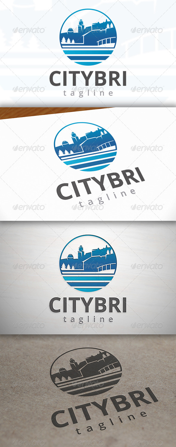 GraphicRiver City Bridge Logo 7155750