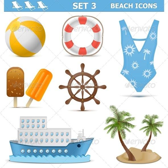 GraphicRiver Beach Icons Set 3 7155800