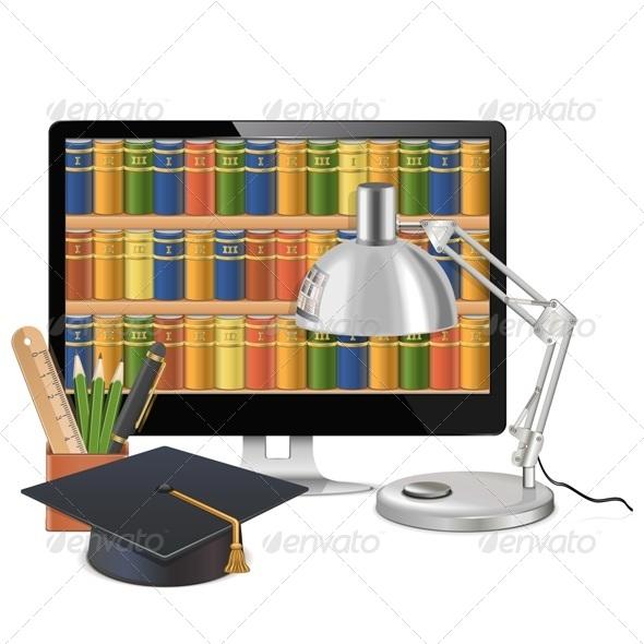 Computer Library Concept