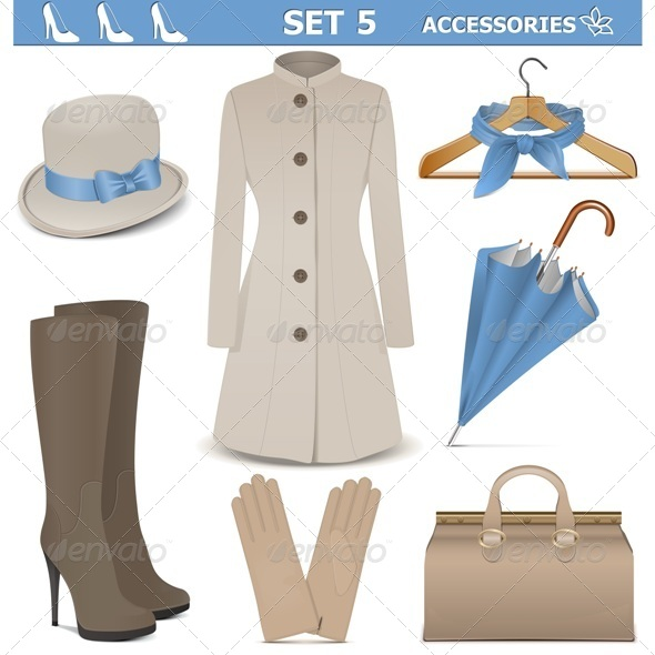GraphicRiver Female Accessories Set 5 7155912