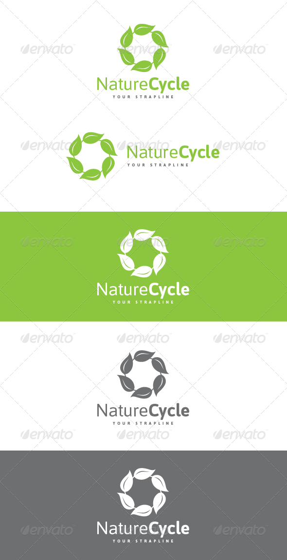 GraphicRiver Nature Cycle Logo 7156411