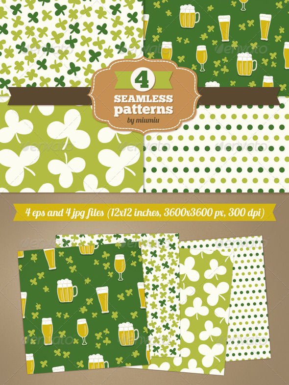 GraphicRiver Set of Holiday Seamless Patterns 7156435