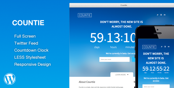 CodeCanyon WP Countie Responsive Countdown Landing Page 7143542