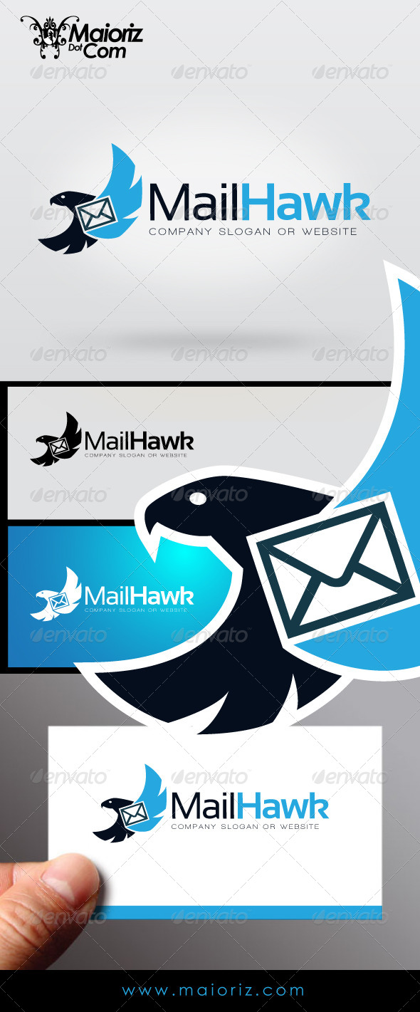 Mail Hawk Logo - Animals Logo Templates