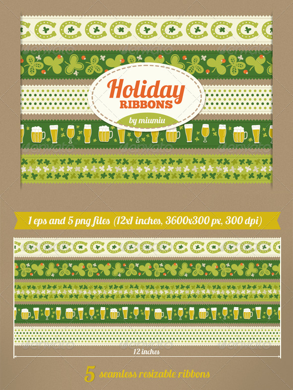 GraphicRiver Holiday Ribbons 7156456