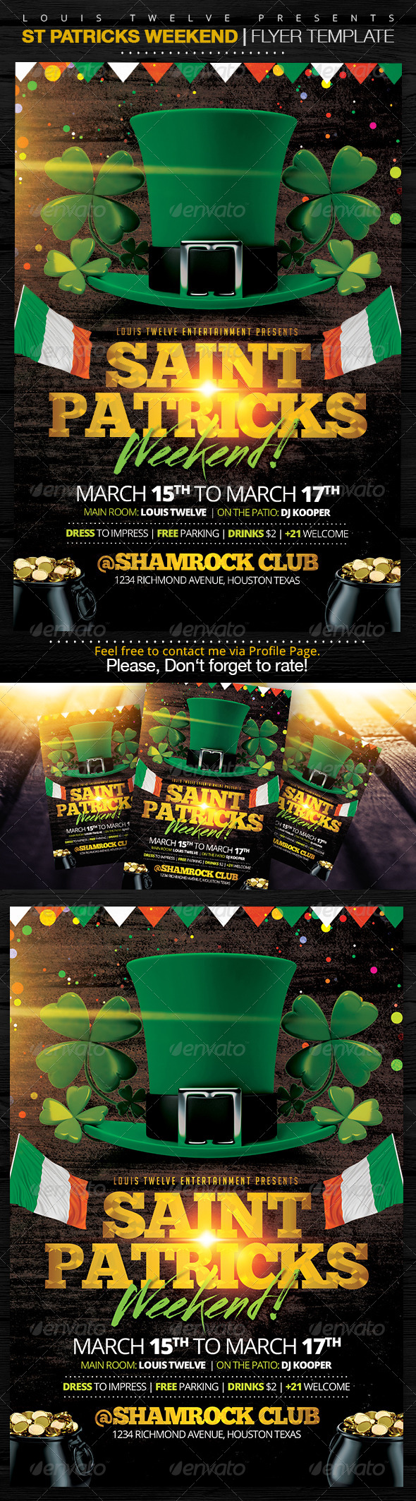 GraphicRiver St Patricks Weekend Flyer Template 7156460