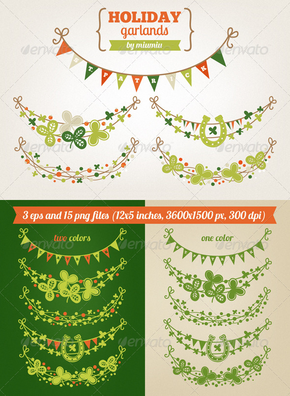 GraphicRiver Holiday Garlands 7156468