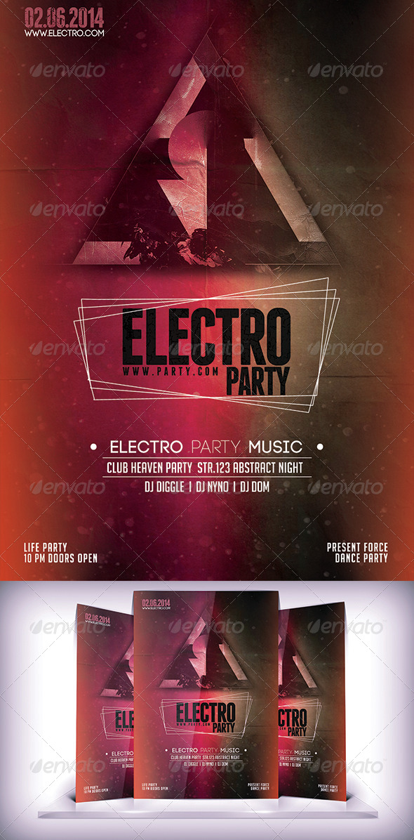 GraphicRiver Electro Party Night Flyer 7156563