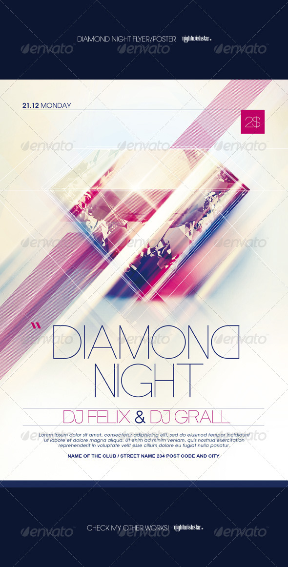 GraphicRiver Diamond Night Poster Flyer 7156717