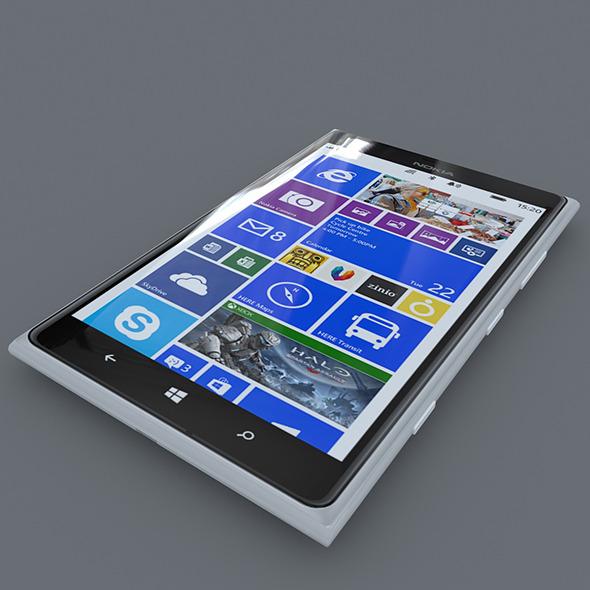 3DOcean Nokia Lumia 1520 White 7141329