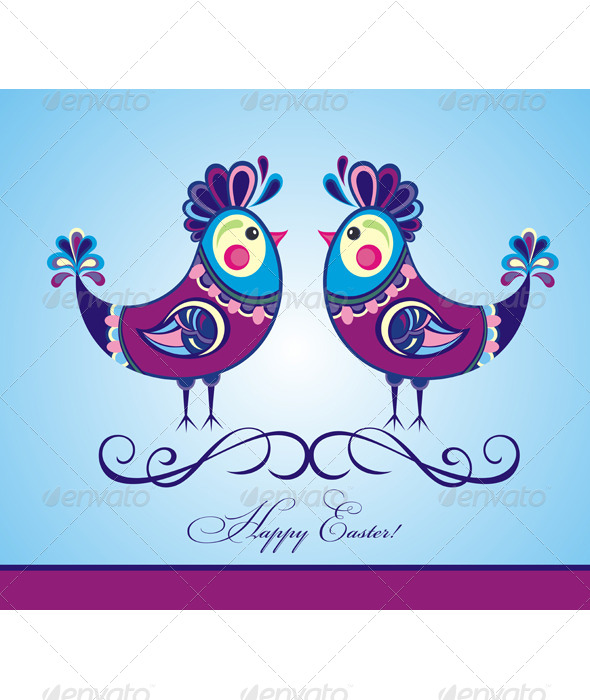 GraphicRiver Easter Chickens 7157046
